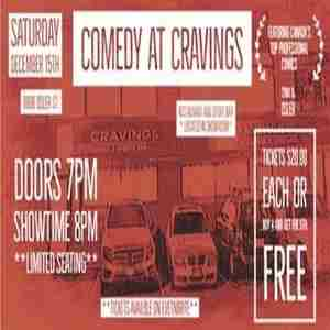 Comedy At Cravings in Vancouver on 15 Dec