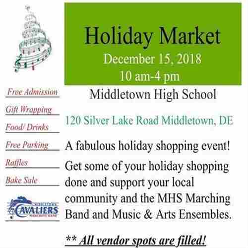 MHS Band, Music and Arts Ensembles Holiday Market in Middletown on 15 Dec