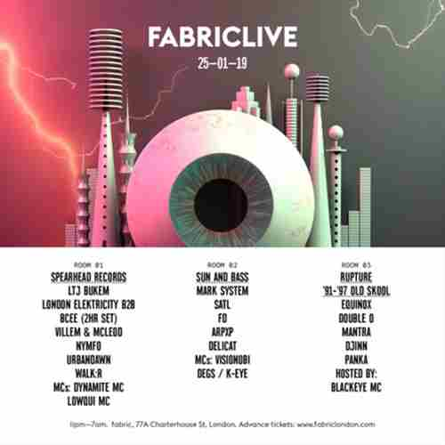 FABRICLIVE: Spearhead Records, Sun and Bass, Rupture '91-'97 Old Skool in London on 25 Jan