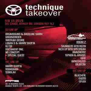 Technique Takeover - Drumsound & Bassline Smith, Grooverider in London on 15 Feb