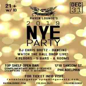 New Year's Eve 2019 Celebration at Raven Lounge in Philadelphia on 31 Dec