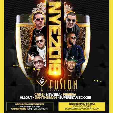 Fusion Lounge NY OpenBar & Buffet New Years Eve 2019 in Queens on 31 Dec