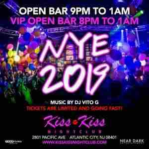 New Year's Eve in Atlantic City at Kiss Kiss Nightclub in Atlantic City on 31 Dec