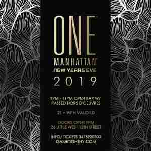 One Manhattan 5 Hours Openbar New Years Eve 2019 in New York on 31 Dec