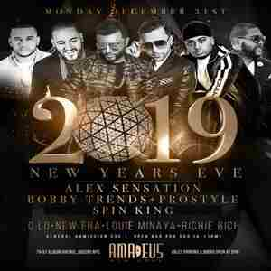 NYE 2019 at Amadeus w/ Open Bar, 2 Floors, 7 DJs and Live Entertainment in Queens on 31 Dec