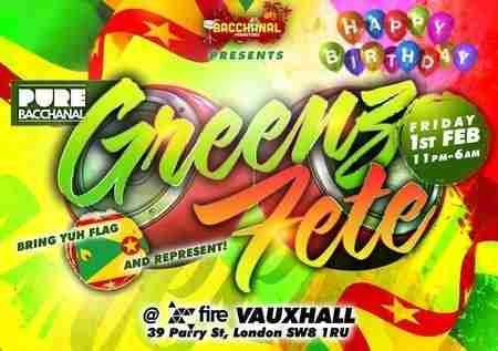 Pure Bacchanal - Greenz Fete in Greater London on Friday, February 1, 2019