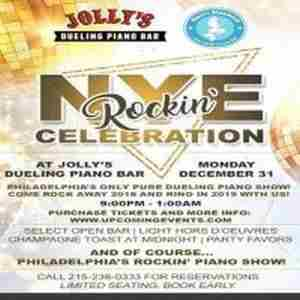 New Year's Eve at Jolly's Dueling Piano Bar in Philadelphia on 31 Dec
