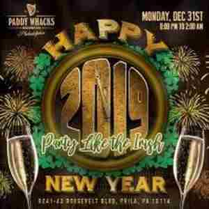 New Year's Eve Celebration 2019 at Paddy Whacks Northeast Philly in Philadelphia on 31 Dec