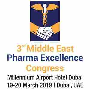 Middle East Pharmaceutical Excellence Congress in Dubai on Tuesday, March 19, 2019