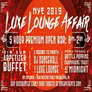 NYE 2019 Luxe Lounge Affair in Philadelphia on 31 Dec