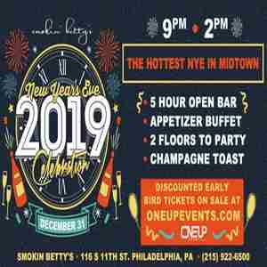 SMOKIN NYE 2019 in Philadelphia on 31 Dec