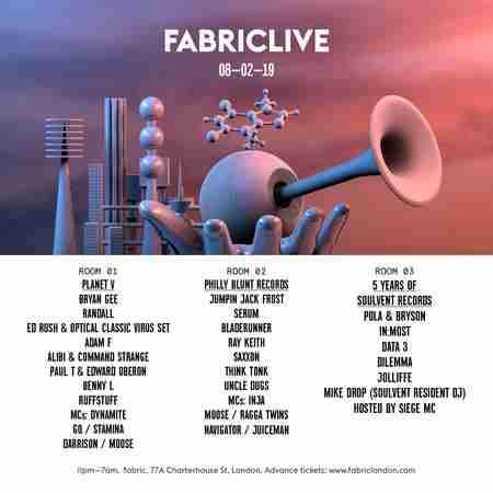FABRICLIVE: Planet V, Philly Blunt Records & Soulvent Records in Greater London on 8 Feb