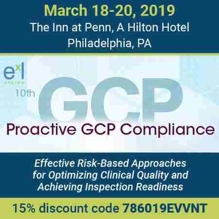 10th Proactive GCP Compliance in Philadelphia on 18 Mar