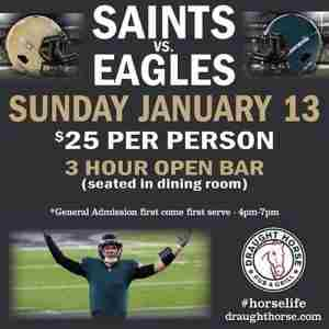 Birds vs. Saints Viewing Party - Draught Horse in Philadelphia on 13 January 2019