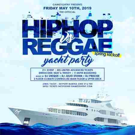 NYC Hip Hop vs. Reggae Yacht Party at Skyport Marina Cabana Yacht 2019 in New York on 10 May