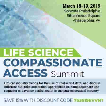 Life Science Compassionate Access Summit in Philadelphia on 18 Mar