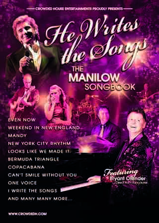 He Writes The Songs - The Manilow Songbook in Southend-on-Sea on Sunday, March 24, 2019