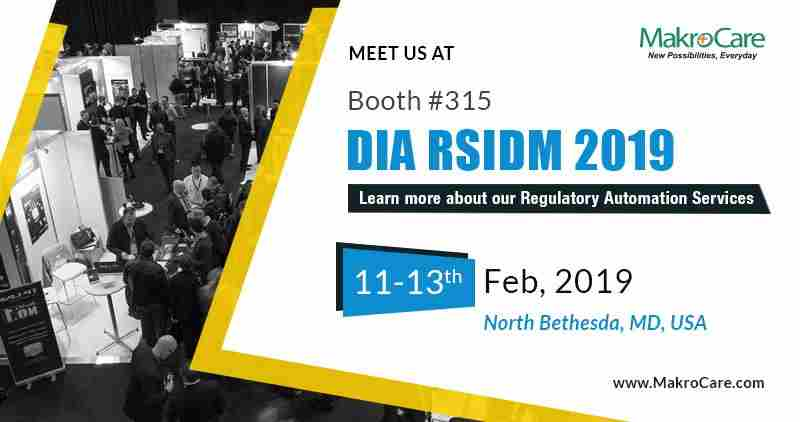 MakroCare to Exhibit at DIA's RSIDM 2019 in North Bethesda on 11 Feb