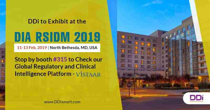 DDi to Exhibit at DIA's RSIDM 2019 in North Bethesda, MD in North Bethesda on 11 Feb