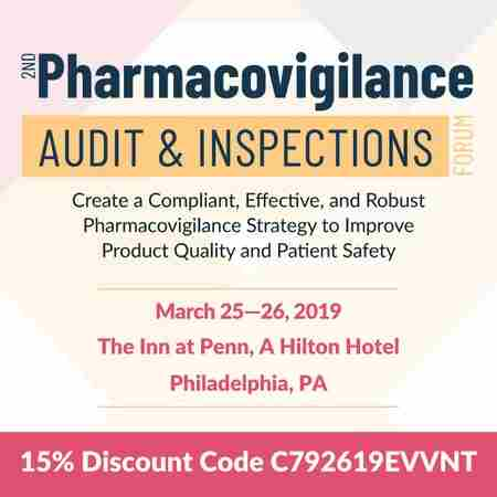 2nd Pharmacovigilance Audit and Inspection Conference in Philadelphia on 25 Mar