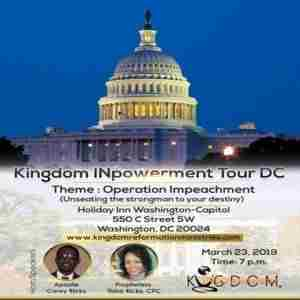 Kingdom INpowerment Tour DC in Washington on Saturday, March 23, 2019