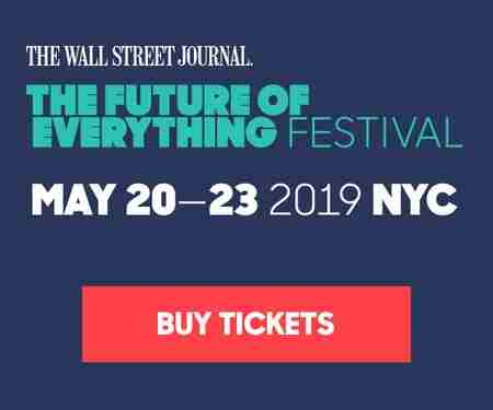 Wall Street Journal Future Of Everything Festival, NYC in New York on 20 May
