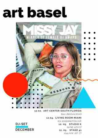 DJ Missy Jay Tours the USA for Miami Music Festival & Art Basel on 2 Dec 2019 in Miami Beach on 2 Dec
