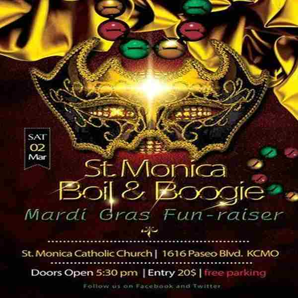 2019 Boil and Boogie : St. Monica Mardi Gras Fundraiser in Kansas City on 2 Mar