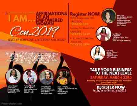 I AM   Affirmations of an Empowered Woman Conference 2019
