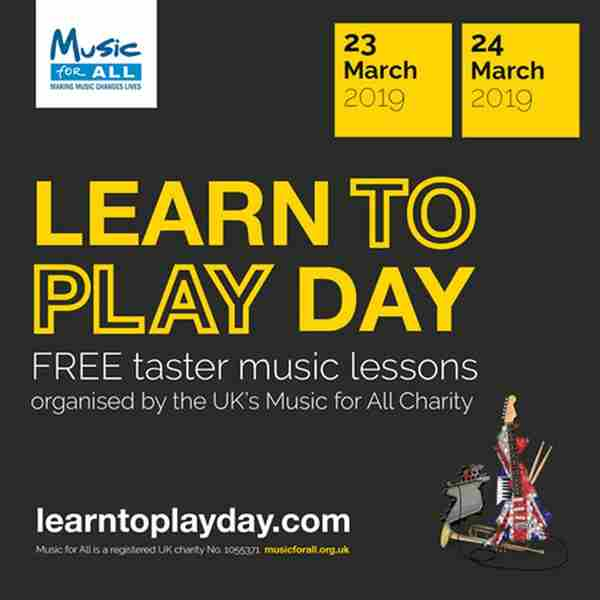 Learn to Play Day is coming to Leeds in Leeds on 23 Mar