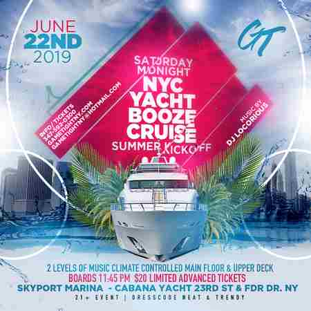 NYC Saturday Midnight Yacht Booze Cruise Party 2019 in New York on Saturday, June 22, 2019
