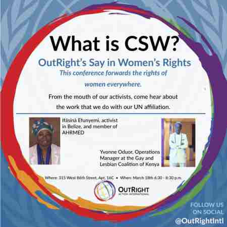 What is CSW? A United Nations CSW Informational Event in New York on 18 Mar