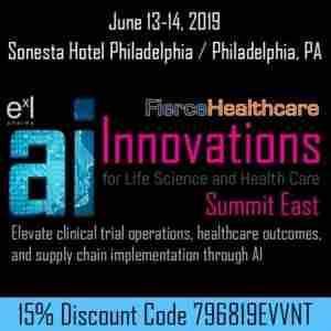 AI Innovations for Life Science and Health Care Summit East 2019 in Philadelphia on 13 Jun