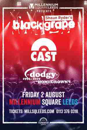 Summer Series 2019 presents Black Grape, Cast and Dodgy in West Yorkshire on 2 Aug
