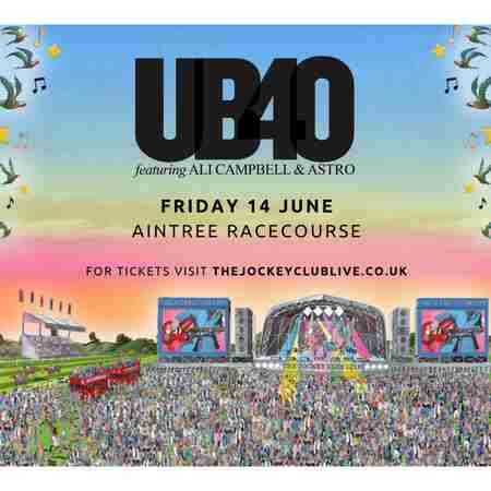 UB40 featuring Ali Campbell and Astro at Aintree Racecourse in Liverpool, Merseyside on 14 Jun