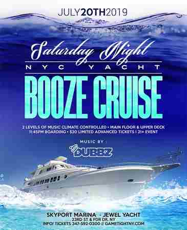 New York Saturday Midnight Yacht Party Booze Cruise at Skyport Marina in New York on 20 Jul