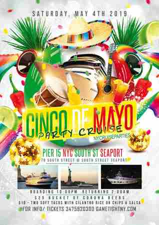NYC Cinco de Mayo Yacht Party Cruise at the Hornblower Pier 15 in New York on 4 May