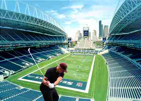 Upper Deck Golf Seattle, CenturyLink Field, June 2019 in Seattle on 7 Jun