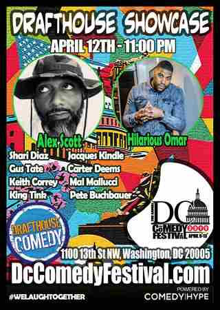 DC Comedy Festival: Alex Scott and Hilarious Omar in Washington on Friday, April 12, 2019