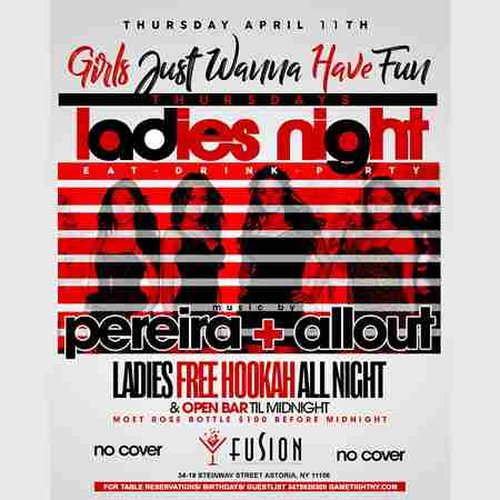 Fusion Lounge Ladies Night Thursdays Openbar & Free on List in Queens on 11 Apr