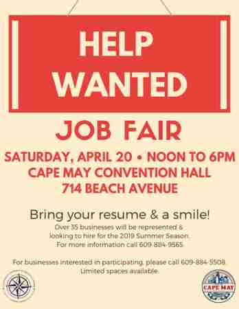 Cape May Job Fair in Cape May on 20 Apr