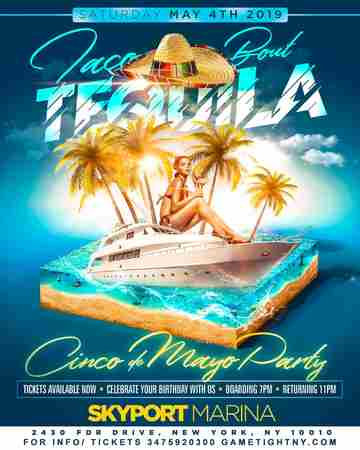 NYC Cinco de Mayo Yacht Party Cruise at Skyport Marina 2019 in New York on 4 May