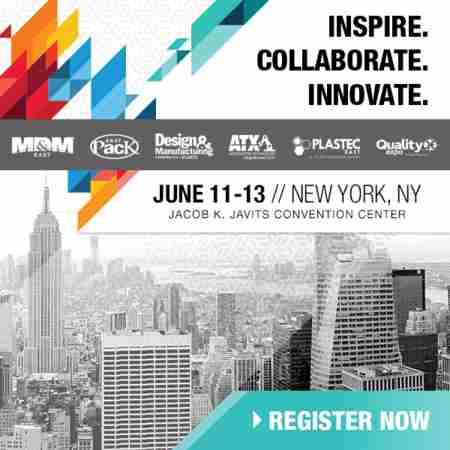 The Largest Advanced Design & Manufacturing Event on the East Coast in New York on 11 Jun