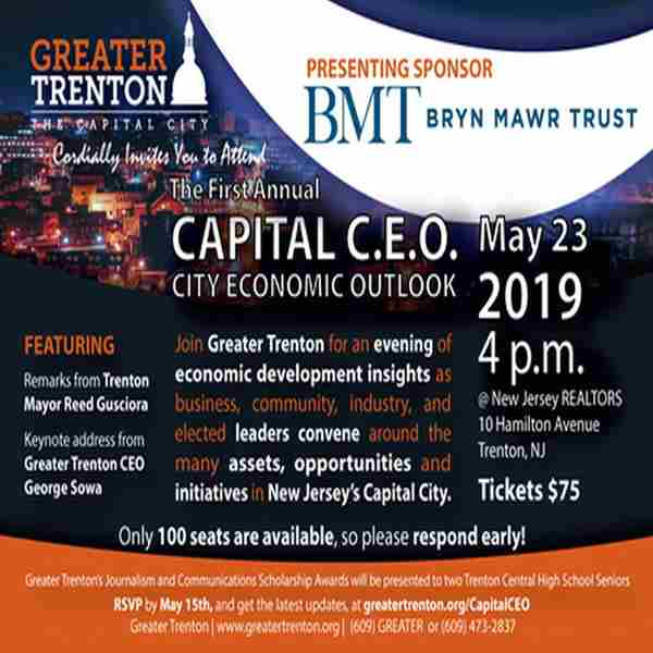 Greater Trenton Capital City Economic Outlook in Trenton on 23 May