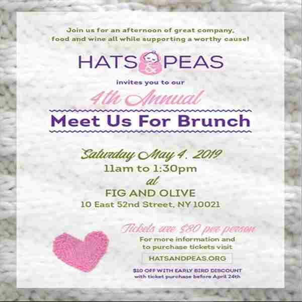 Hats and Peas: Meet us for Brunch Fundraiser in New York on 4 May
