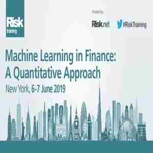 Machine Learning in Finance: A Quantitative Approach | New York, 6 - 7 June in New York on Thursday, June 6, 2019