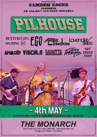 Camden Rocks All Dayer feat. Pilhouse & more at The Monarch in Greater London on 4 May