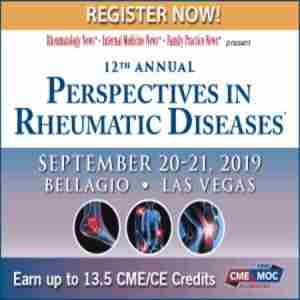 12th Annual Perspectives in Rheumatic Diseases Conference 2019