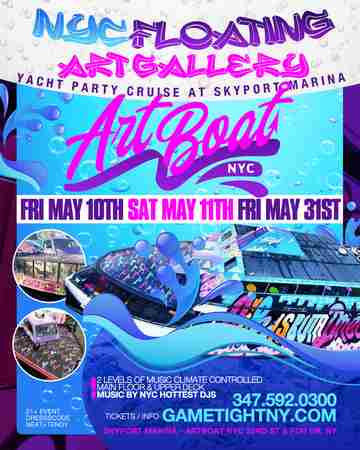 NYC Floating Art Gallery Yacht Party Cruise at Skyport Marina in New York on 10 May