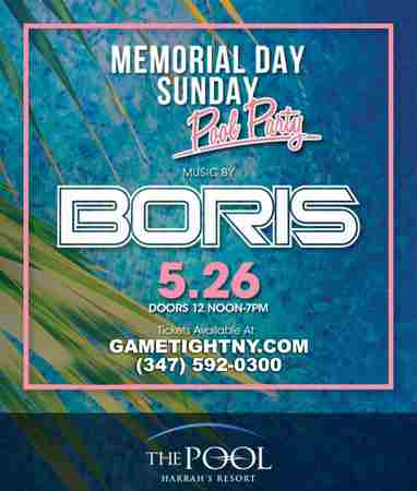 Boris MDW Sunday Daylife Harrahs Pool Party Atlantic City 2019 in Atlantic City on 26 May